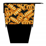 Curly Fries Cup case Chips cup case