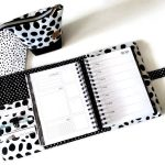 Lime Weekly Planner Cover in Dalmatian